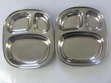 Kids's Tray - Divided Stainless Steel Tray Set of 2 - QUALWAYS LLC