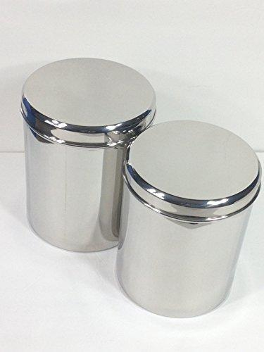 Jumbo Stainless Steel Kitchen Canister Set of 2 (Small)