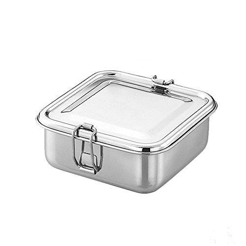 Stainless Steel Square Shaped Lunch box - QUALWAYS LLC