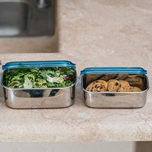 Stainless Steel Rectangular Shaped Storage Bowl Set of 3