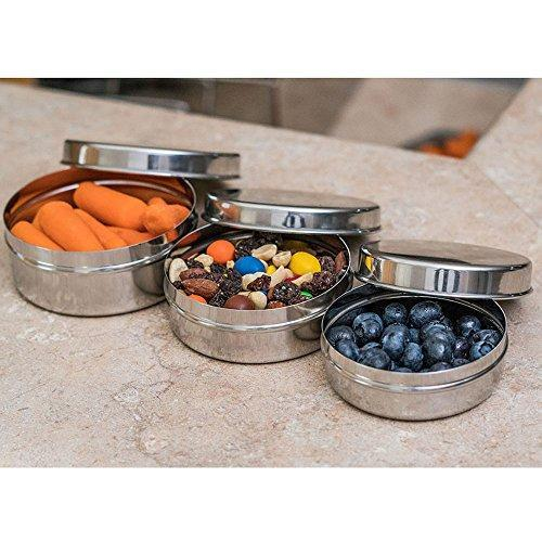 Stainless Steel Air-Tight Snack Containers Set of 3