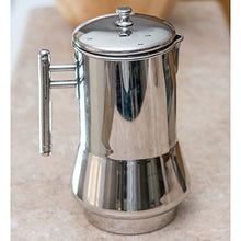 Qualways Stainless Steel Pitcher Or Jug With Lid And With Handle- Model 2 - QUALWAYS LLC