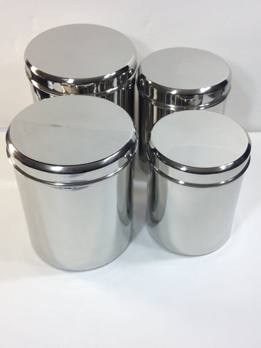 Qualways Jumbo Stainless Steel Kitchen Canister Set of 4 (Set of 4), 6.5 lb, 5 lb. 4 lb and 3 lb canister set - QUALWAYS LLC
