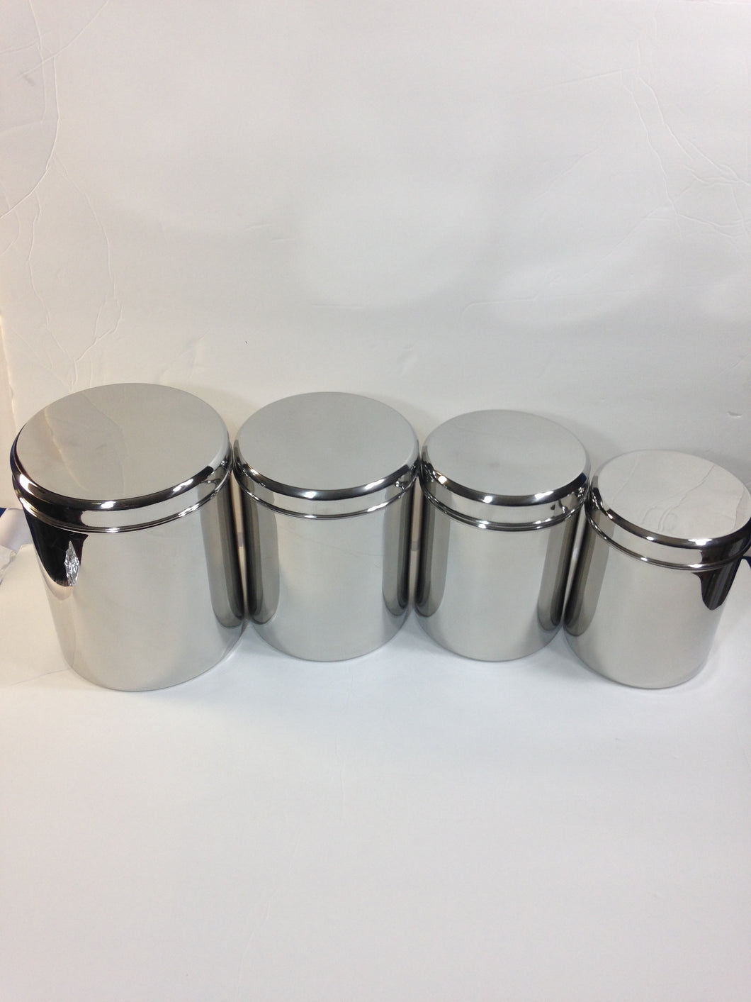 qualways jumbo stainless steel kitchen canister set of 4