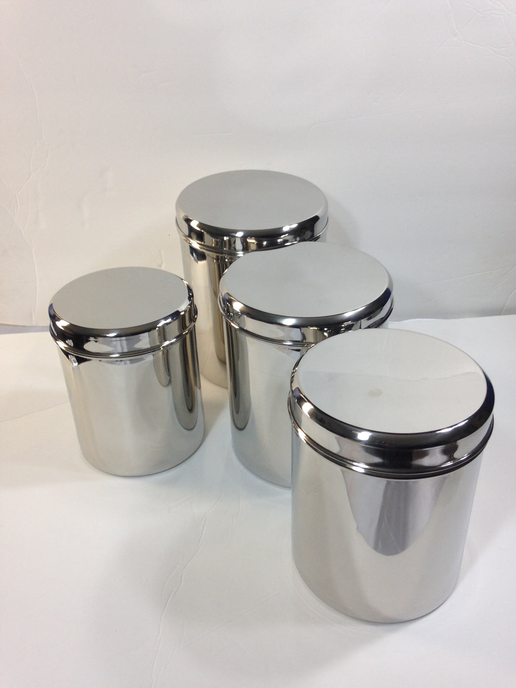 ... Qualways Jumbo Stainless Steel Kitchen Canister Set Of 4 (Set Of 4),  6.5 ...