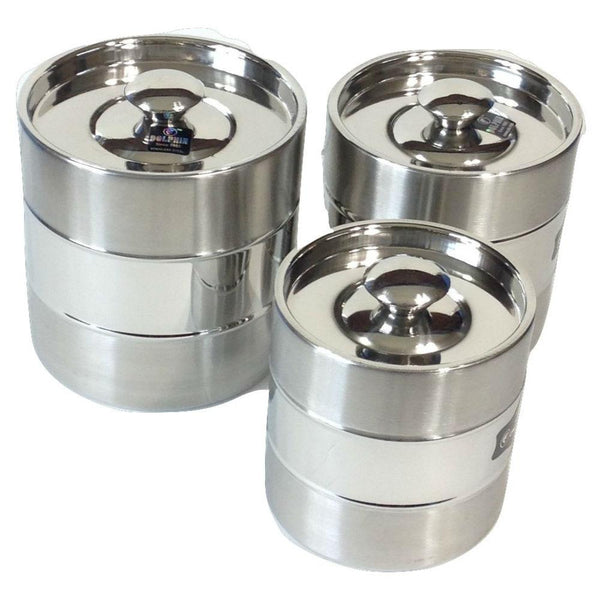 Stainless Steel Canisters set of 3 - QUALWAYS LLC