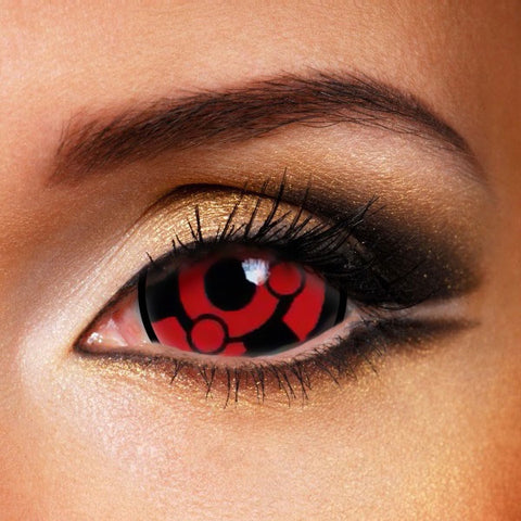 SHARINGAN MANGEKYOU  MADARA  UCHIHA SCLERA 22MM CONTACT LENSES