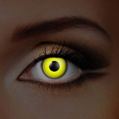 UV Yellow Crazy Lenses