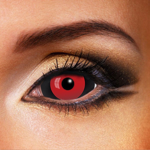 Red Ghoul Black Sclera Contacts 22mm | Red and Black ...