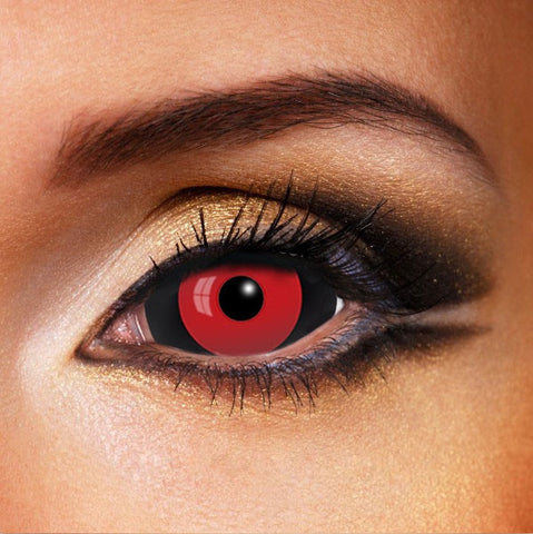 Red Black Ghoul Sclera 22mm Contacts