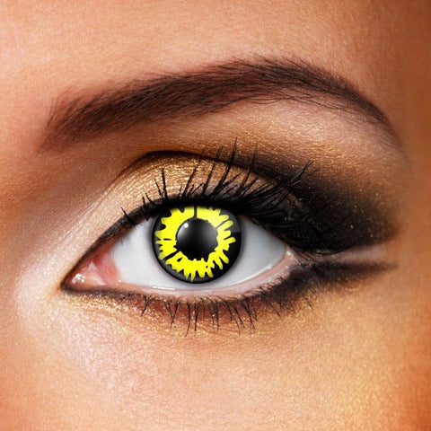 Twilight Black Yellow Werewolf Contact Lenses
