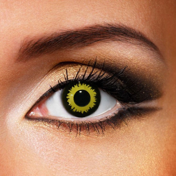 Explosion Yellow Crazy Contacts