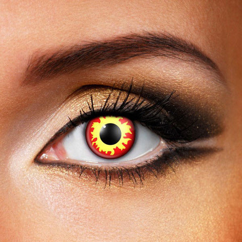 Flame Wild Fire Eye Contacts