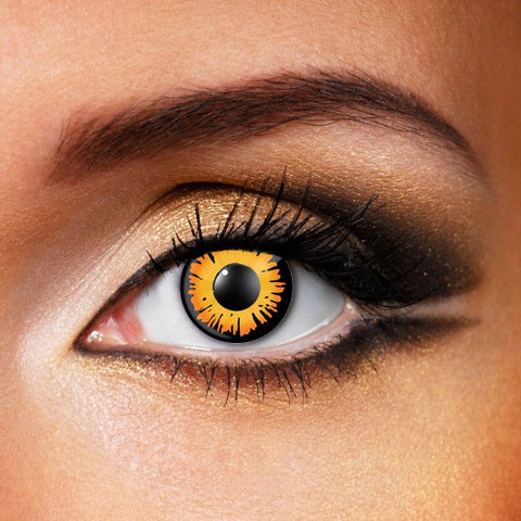 Orange werewolf eyes crazy contact lenses