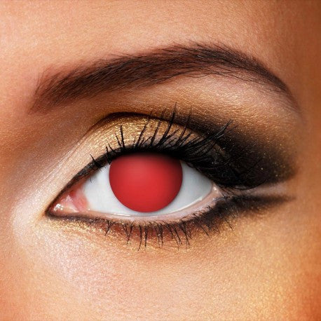 RED BLIND CONTACT LENSES