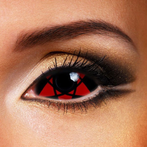 SHARINGAN NARUTO HEXAGRAM SCLERA 22MM CONTACT LENSES