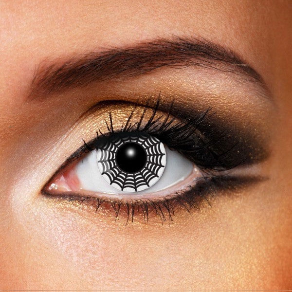 BLACK & WHITE SPIDER WEB Crazy Contact lenses