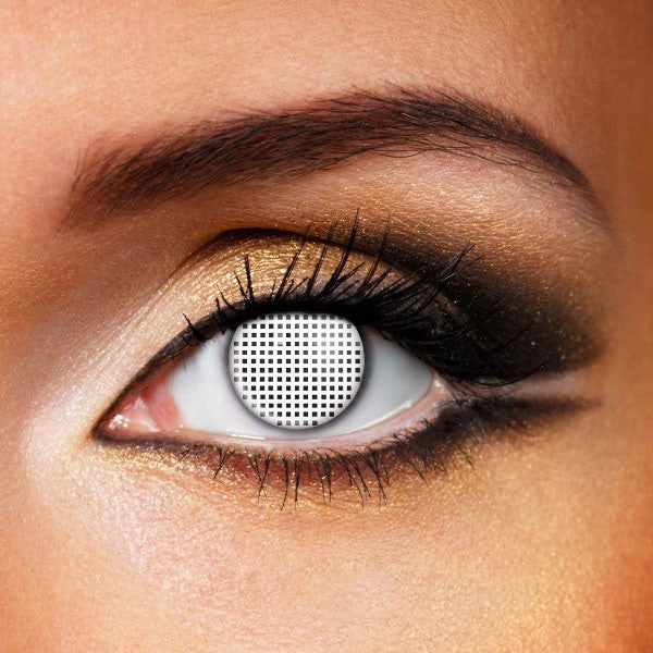 ZOMBIE WHITE MESH CONTACT LENSES