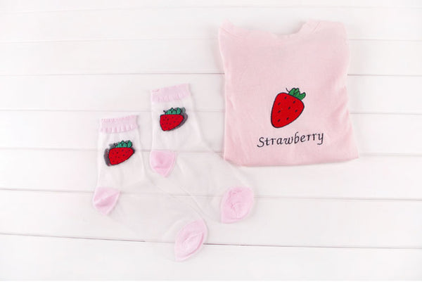 Transparent Fruit Socks - SnackBarShop