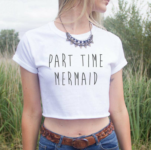 Part Time Mermaid Crop Top - SnackBarShop