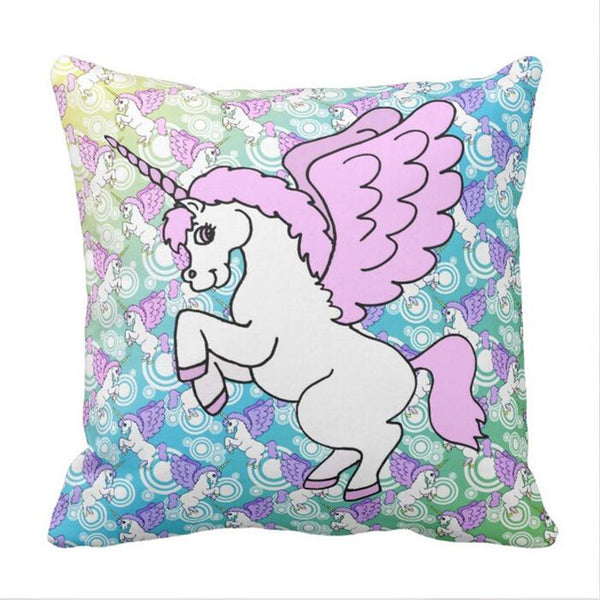 Keep Calm and Poop Rainbows Unicorn Throw Pillow Case - SnackBarShop