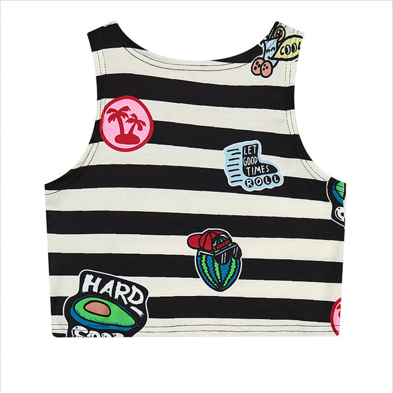 Harajuku Inspired Hard-Core Crop Top