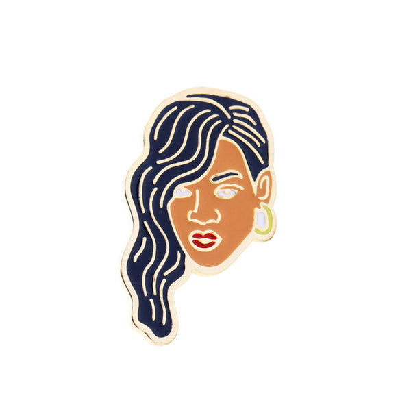 Lovers' Figure Enamel Pin - SnackBarShop