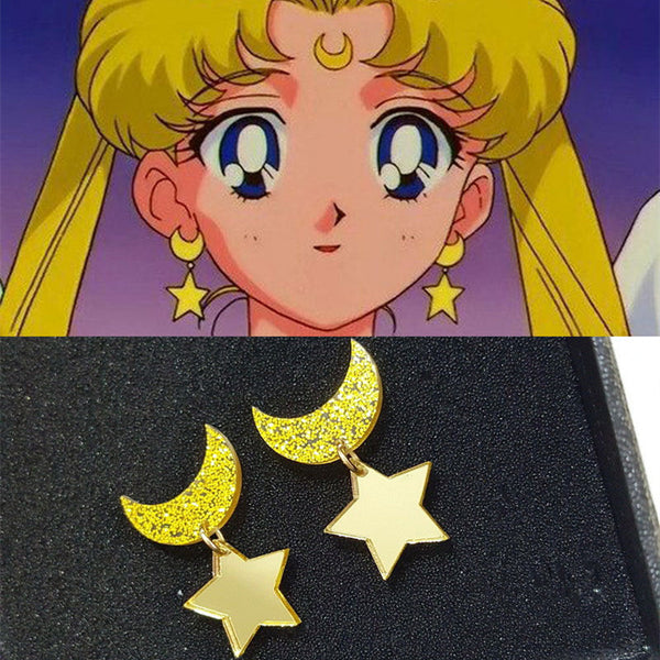 Moon Stud Earrings - SnackBarShop
