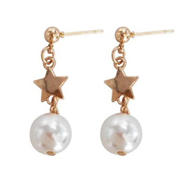 Pearl Fashion Earrings - SnackBarShop