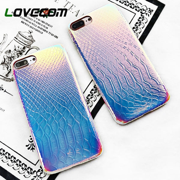 Crocodile Grain Shining Laser iPhone Case - SnackBarShop
