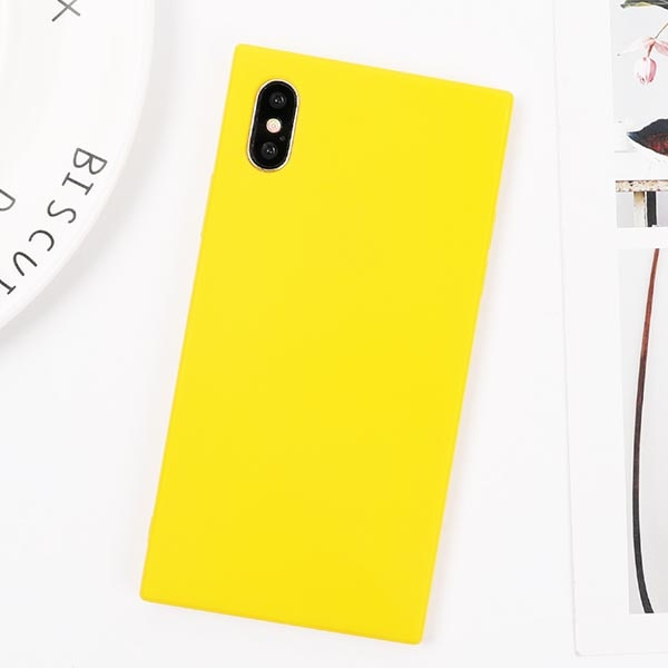 Square Yellow Candy iPhone Case - SnackBarShop