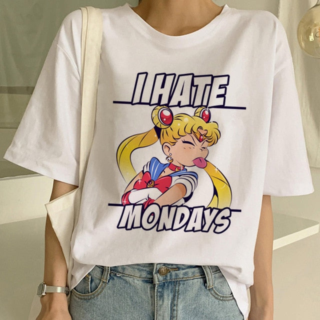Sailor Moon I Hate Mondays Tee - SnackBarShop