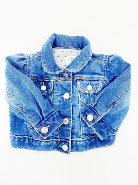 Gap lined denim jacket 0-6m