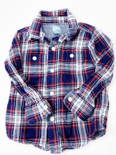 Gap flannel button-up size 2