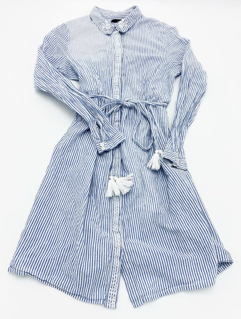 Mara Mara blue stripe dress - x-small