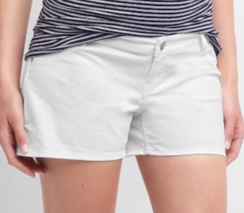 Gap Maternity white jean shorts - size 32 (medium/large)