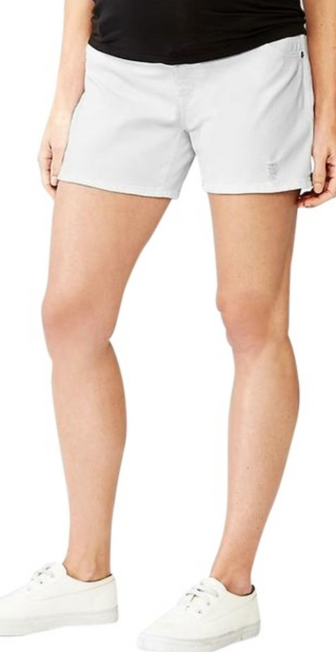 Gap Maternity tailored whote shorts (over the belly) - size 6R