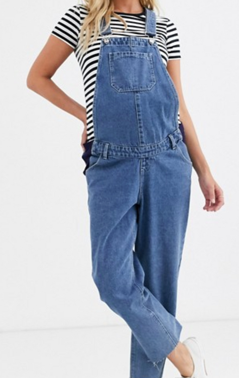 Urban Bliss relaxed straight leg denim overalls - size 12