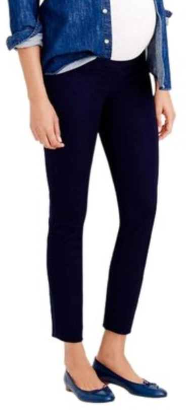 J Crew Maternity Minnie Navy Skinny Ankle Pants - size 12