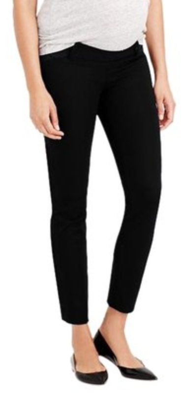 J Crew Maternity Black Skinny Ankle Pants - size 12