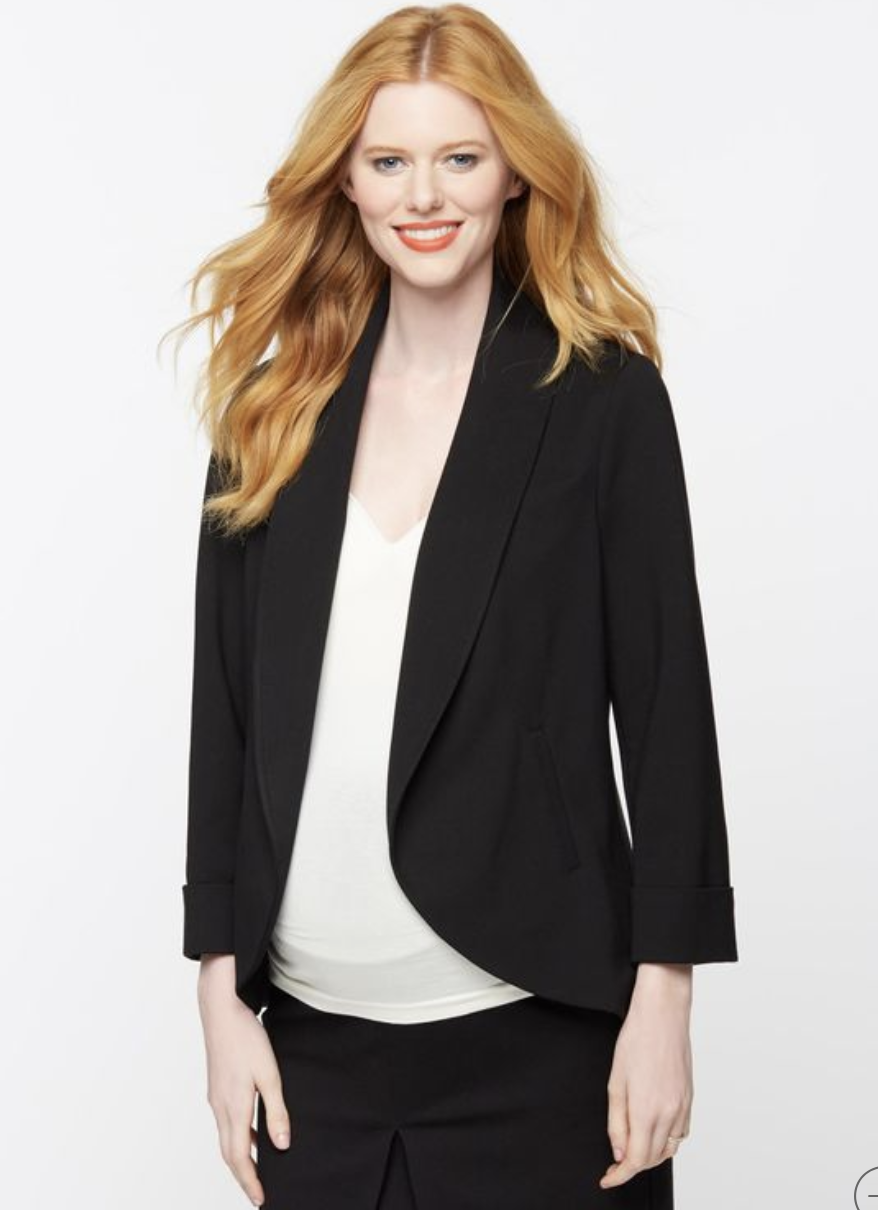 A Pea in the Pod black shawl blazer - Medium