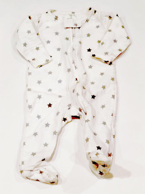 Aden by Aden & Anais sleeper zip-up 0-3m