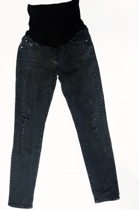 AG skinnyJeans for A Pea in the Pod black/grey distressed - size 29