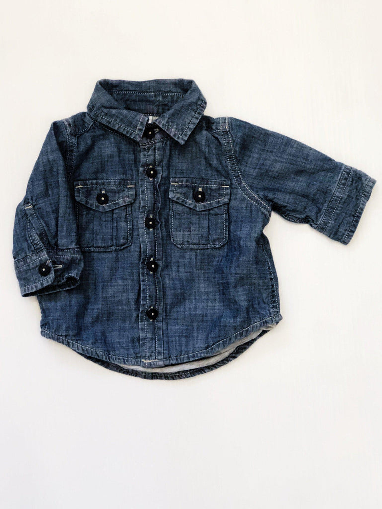 Baby Gap lined denim top 0-3m