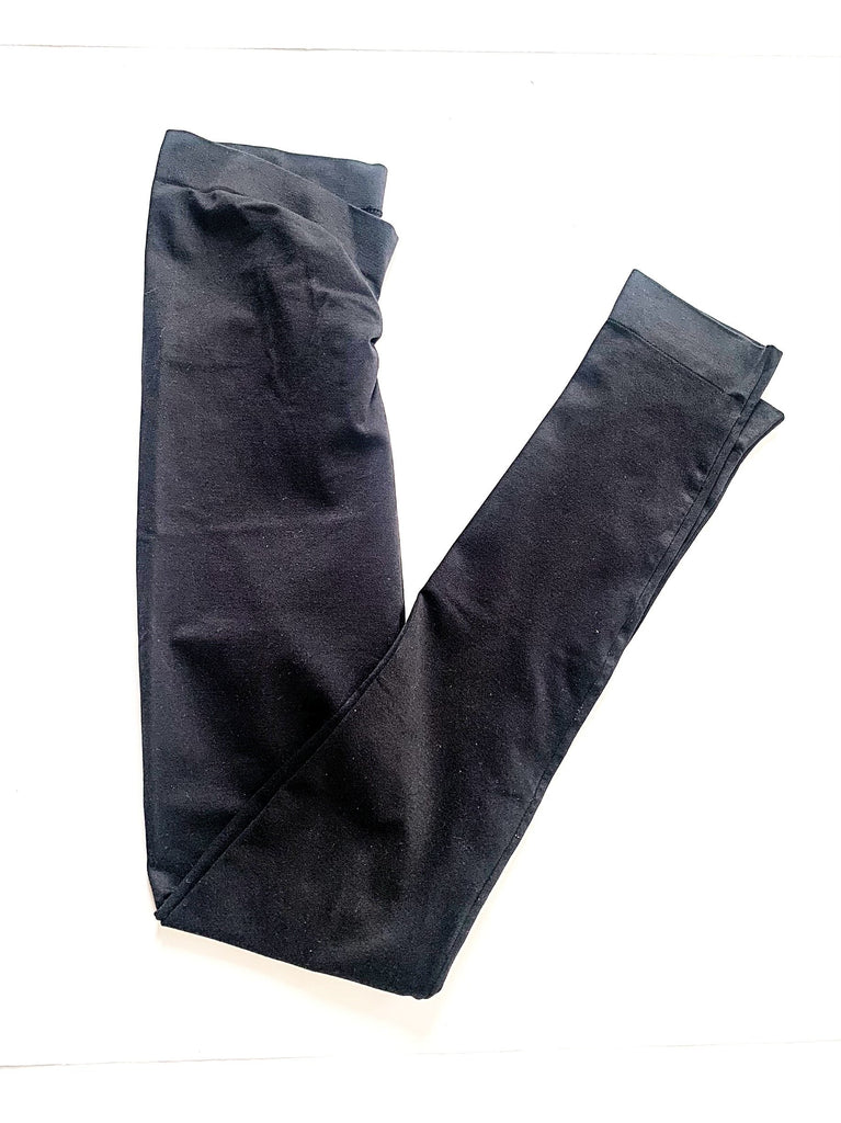 Black Maternity leggings small-Fresh Kids Inc.