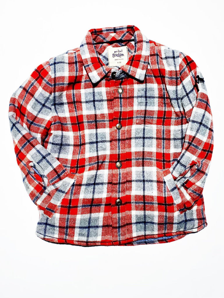 Boden top/coat plaid quilted size 4-5-Fresh Kids Inc.