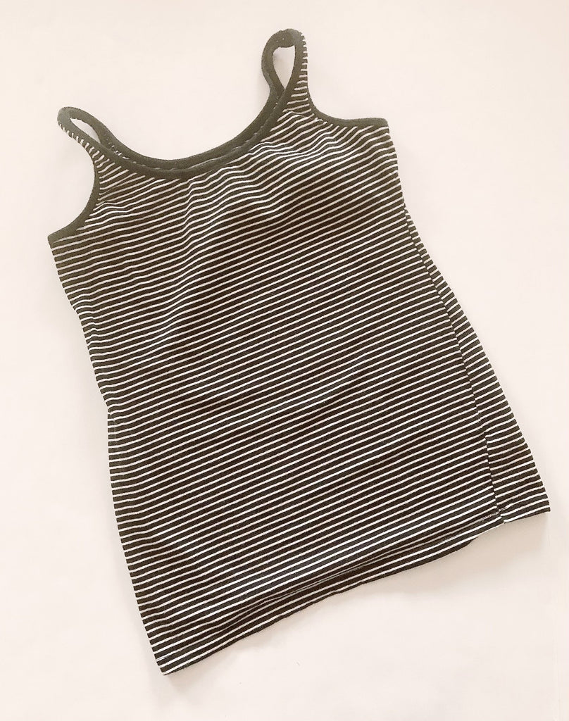 Bump Start Motherhood Maternity tank top navy white strip S-Fresh Kids Inc.