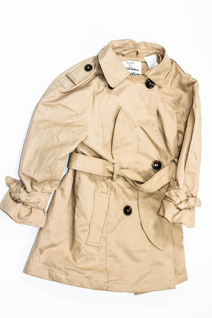 C&A Kids trench coat taupe size 4-5-Fresh Kids Inc.