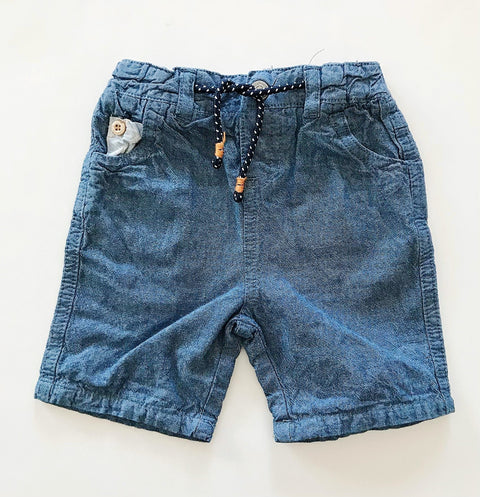 Cadet Rousselle Paris shorts - chambray- 12m-Fresh Kids Inc.