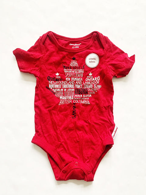 Canadiana onesie size 12-18m NEW-Fresh Kids Inc.